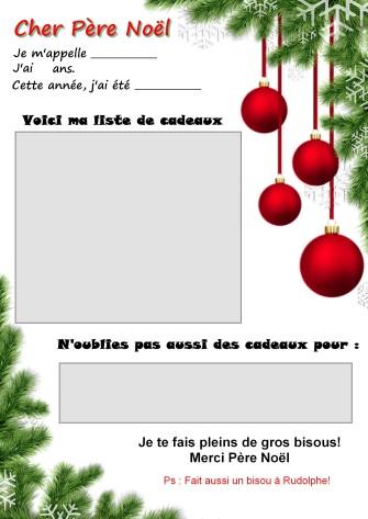 lettre père noel, printable lettre père noel, papier lettre noel