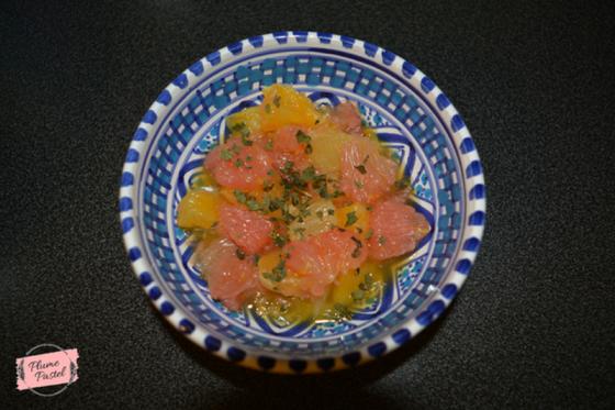 recette vitaminée, petit déjeuner, recette fruit, nage d'agrumes